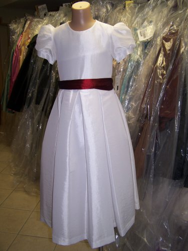 Dessy 4011.....Flower Girl / Special Occasion Dress.....White....Sz 10
