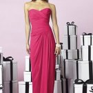 After Six 6641...Strapless, Full length, Chiffon Dress.....Cherry....Sz 10