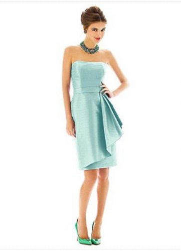 Alfred Sung 592......Cocktail Length, Strapless Dress......Seaside.....Sz 4