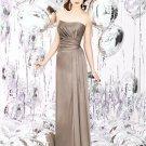 Dessy Social Bridesmaids 8121.... Formal, Strapless Satin dress...Topaz...Sz 12