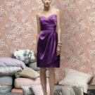 Lela Rose LR 168....Strapless Cocktail Satin Dress....African Violet...Sz 16
