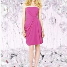 Dessy Social Bridesmaids 8124..Knee-Length, Strapless....American Beauty...Sz 6