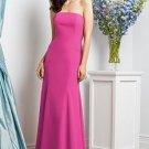 Dessy 2935.....Full Length, Crepe, Strapless Dress.....Fuchsia.... Sz 22