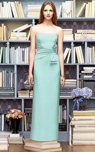 Lela Rose LR 219....Full length..Strapless, Crepe Dress....Dew Drop.....Sz 22