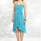 Dessy Social Bridesmaids # 8131..Knee length, Straplesss dress..Turquoise..Sz 2