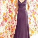 After Six 6257...Full length, Sleeveless Dress.....Eggplant....Sz 10