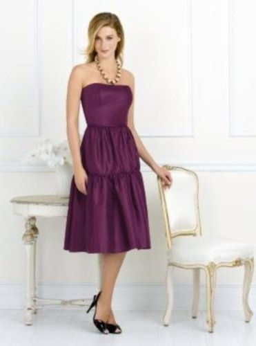 After Six 6530....Strapless Knee-length Purple Dress....Blackberry...Sz 12
