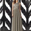 Details about  Dessy 2872.....Full length, One shoulder Dress.....Mocha....Sz 8