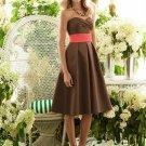Details about  After Six 6553...Bridesmaid / Brown, Knee Length Dress......Latte.....Sz 6