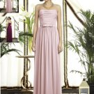 Dessy 2898.....Full length, Strapless, Chiffon Dress......Blush.....Sz 12