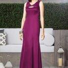 Dessy 2900.....Full Length, Satin, Sleeveless Dress.....Merlot.... Sz 8