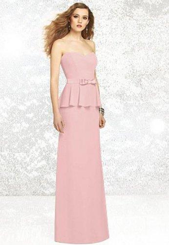 Dessy 8129.....Full length, Strapless Dress.....Rose.....Size 10