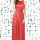 Dessy 8145.....Full length, Sleeveless, Satin Dress......Firecracker.....Size 8