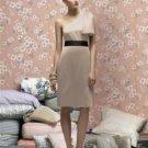 Lela Rose LR 170....Cocktail length, one shoulder, Satin dress......Sand...Sz 12