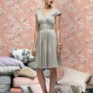 Lela Rose 166....Knee-length...Satin Cocktail Dress...Gray...Alabaster.....Sz 12