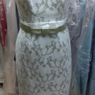 57 Grand..Style 5707...Cocktail length, Strapless Dress....Mint / Ivory....Sz 10