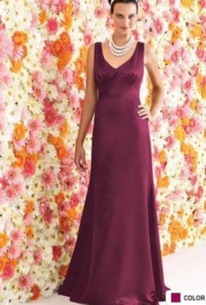 After Six 6257....Full length, Sleeveless, Satin Dress...Merlot...Size 0 UK