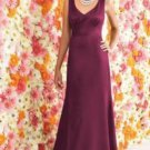 After Six 6257....Full length, Sleeveless, Satin Dress...Merlot...Size 0 UK