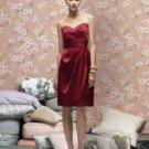 Lela Rose LR 168....Strapless Cocktail Satin Dress...Candy apple Size 12