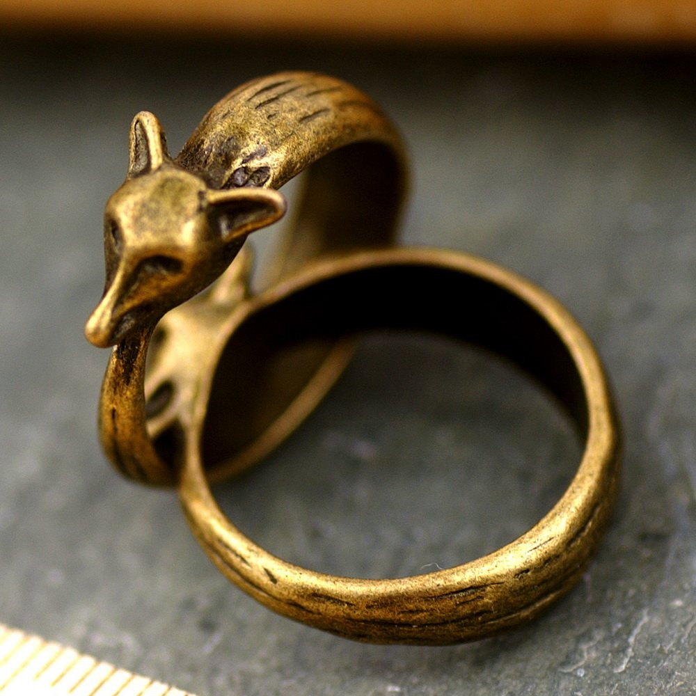 Cute Foxy Vintaged Bronze Fox Ring Accessorize d03