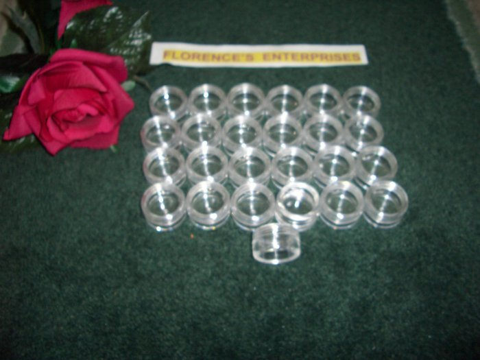 LOT OF 25 CLEAR COSMETIC JAR - 5 GRAM PLUS *** FREE LABELS ***