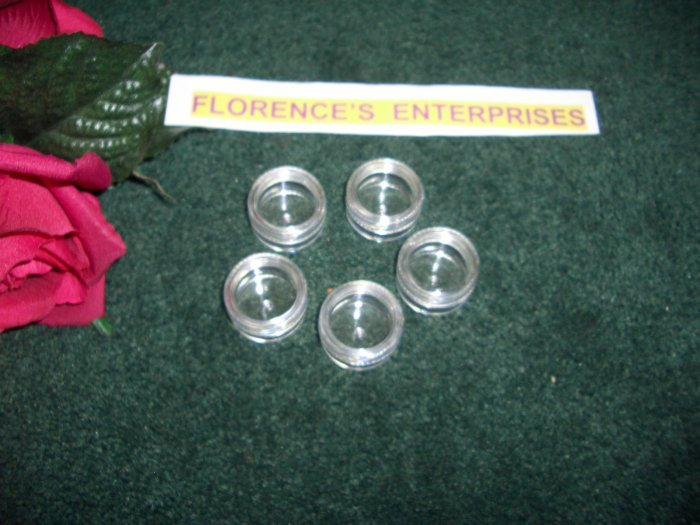 LOT OF 5 CLEAR COSMETIC JAR  -  5 GRAM  PLUS  *** FREE LABELS ***