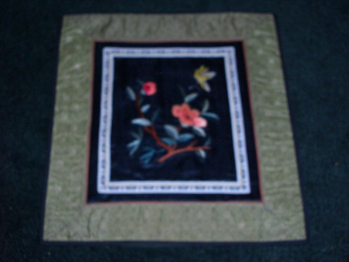 Square Tapestry with butterfly & flowers   *** FREE SHIPPING ***