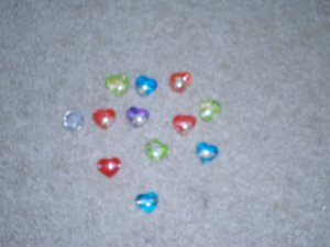 HEART SHAPE  OCEAN BLUE WITH SHELL INSIDE THE BEAD   ** FREE SHIP **