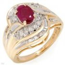 elegant 10 k yellow gold ruby ring  Retail  $949.99