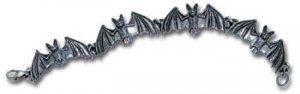 Alchemy Gothic Pewter Bat Chain Bracelet