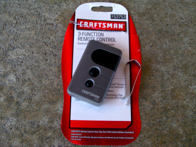 Craftsman Sears Remote 139 53753 Garage Door Opener