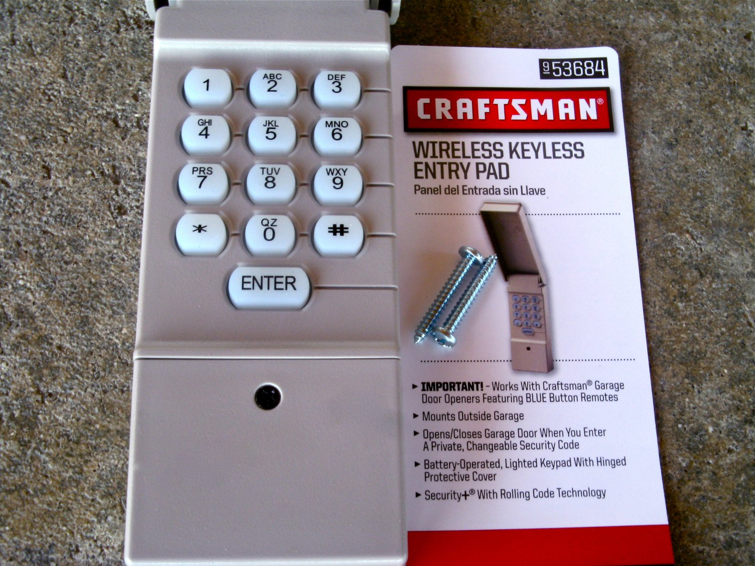 Craftsman Sears Keypad 139 53684 Garage Door Opener Remote