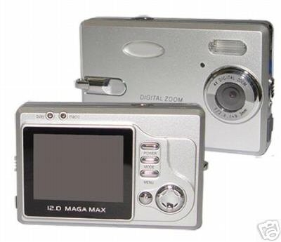 New Digital Camera, 12M Pixel, 2.0-inch LCD