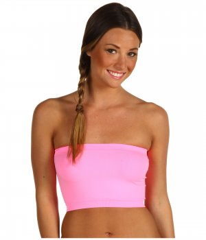 Hot Pink Strapless Sports Bra Bandeau Tube Top new