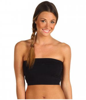 Black Strapless Sports Bra Bandeau Tube Top new