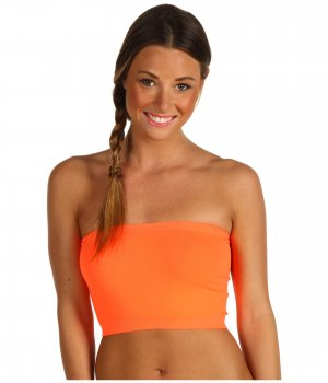 Women's Bandeau Top Neon Orange New