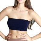 Navy Blue Strapless Sports Bra Bandeau Tube Top new