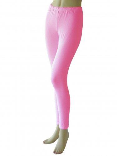 Women's Hot Pink Leggings Tights Yoga Pants Full length New