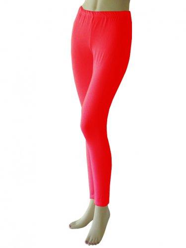 Women's Soft Red Leggings Tights Yoga Pants Full length New