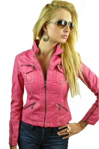 Hot Pink Motorcycle Jacket Small