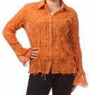 Women's Orange Plus Size Blouse size 2XL