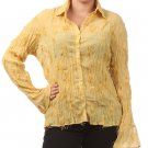 Women's Yellow Plus Size Blouse size 2XL