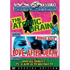The Atomic Brain - Love After Death - The Incredible Petrified World NEW DVD