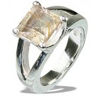 MTristaN Signature Golden Rutile and Pure Sterling Silver Ring