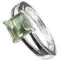 MTristaN Signature Ring Green Amethyst
