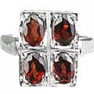 MTristaN Garnet Bridesmaid Ring