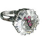 MTristaN Waterfall Ring Crystal and Ruby