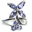 MTristaN Flower Ring Water Sapphire