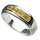 M. Tristan mens signature ring Citrine