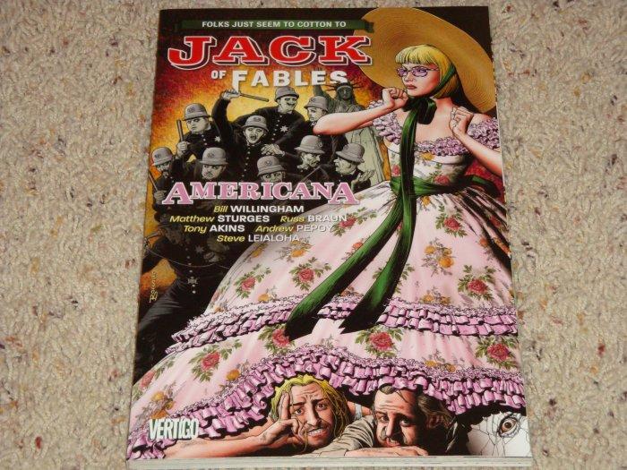 DC Vertigo Jack of Fables TPB Vol 4 Americana NM 2008